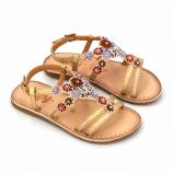 Sandales argent cuir fozia mo304 mo404 Enfant BOPY marque pas cher prix dégriffés destockage