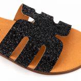 Mule glitter negro 9176 t36/41 Femme SANDRACOVES marque pas cher prix dégriffés destockage