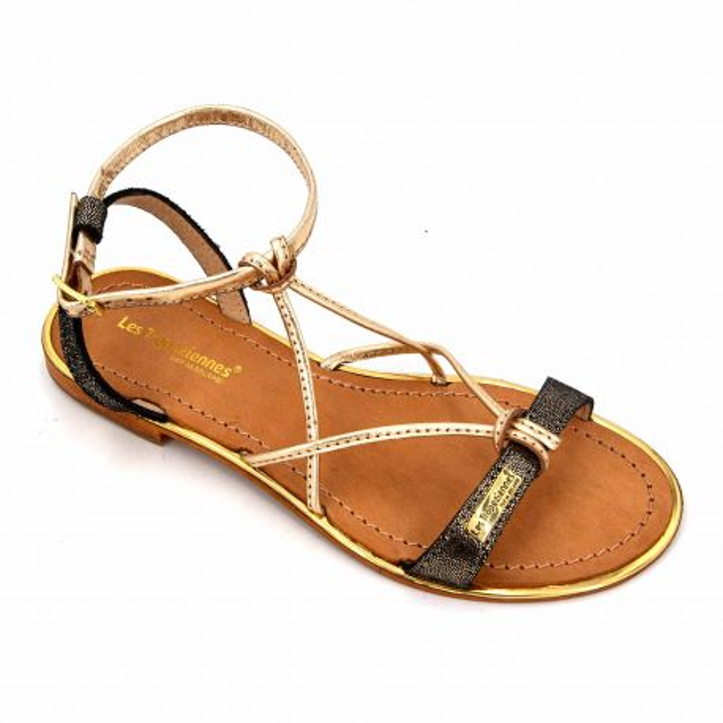 Sandales tan/or c12906hirondel t36/40 Femme LES TROPEZIENNES PAR M.BELARBI