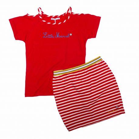 Ens. jupe + t.shirt Enfant LITTLE MARCEL marque pas cher prix dégriffés destockage