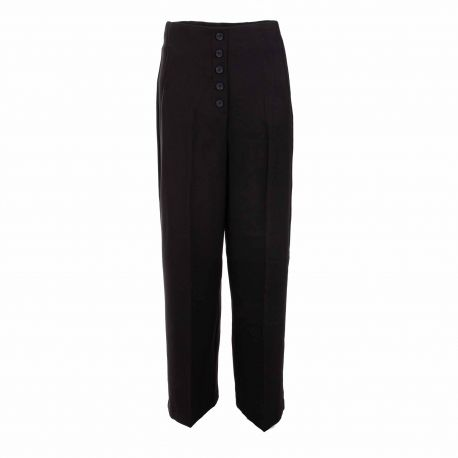 Pantalon toile noir 10240141 Femme VERO MODA