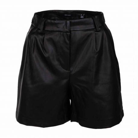 Short similicuir noir 10240291 Femme VERO MODA