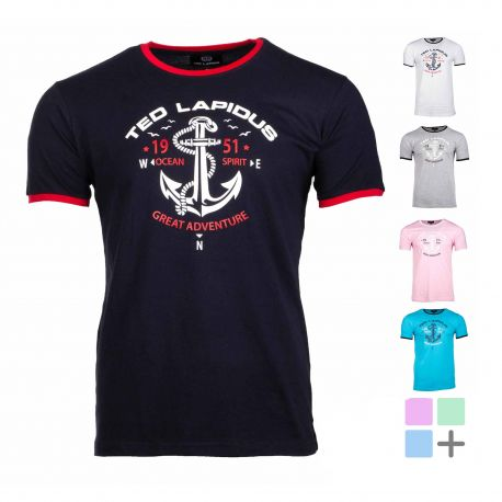 Tee shirt col rond ocean spirit thes Homme TED LAPIDUS