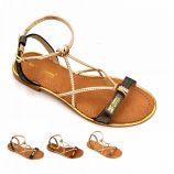 Sandales tan/or hirondel Femme LES TROPEZIENNES PAR M.BELARBI