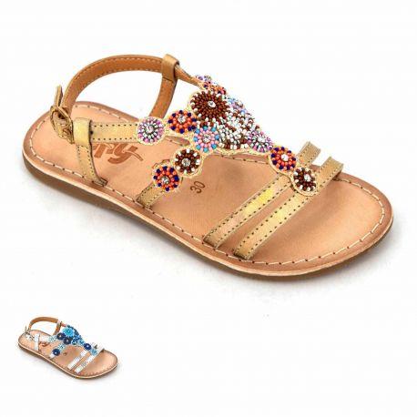 Sandales argent cuir fozia mo304 mo404 Enfant BOPY