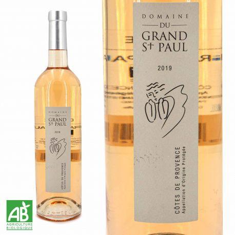 Vin rosé AOP Côtes de Provence AB Biologique Ecocert 75CL 2018 Domaine du Grand Saint Paul