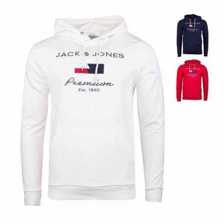 Sweat capuche 12195993 Homme JACK & JONES marque pas cher prix dégriffés destockage
