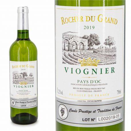 Vin blanc viognier IGP Pays d'OC Rocher du Grand 75cl 2019
