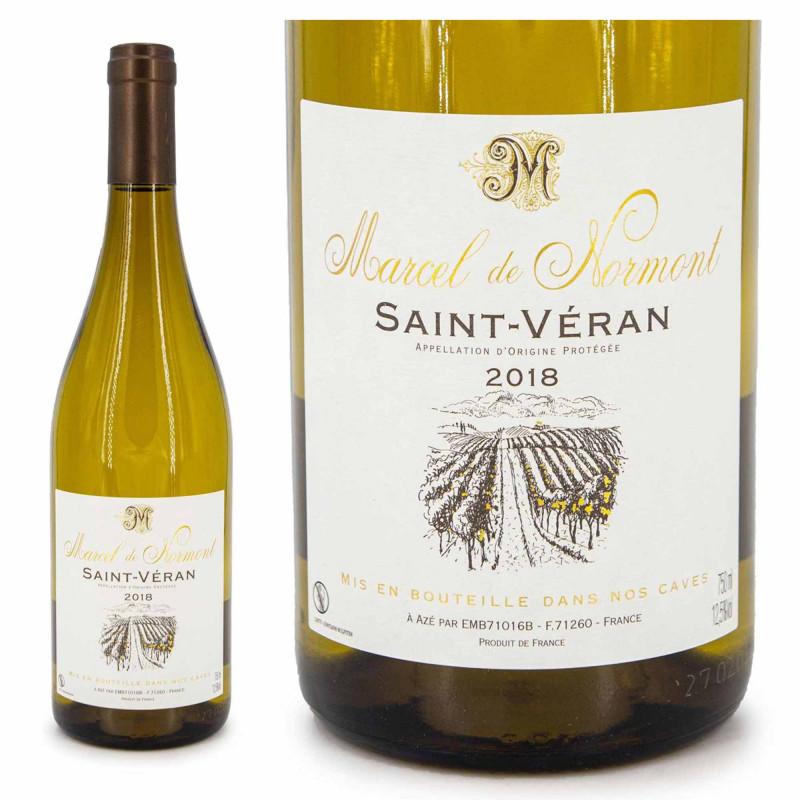 Vin blanc AOP Saint Véran Marcel de Normont 75 CL 2018