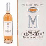 Vin rosé Château Saint-Maur cru classé AOP Côtes de Provence 75cl 2019