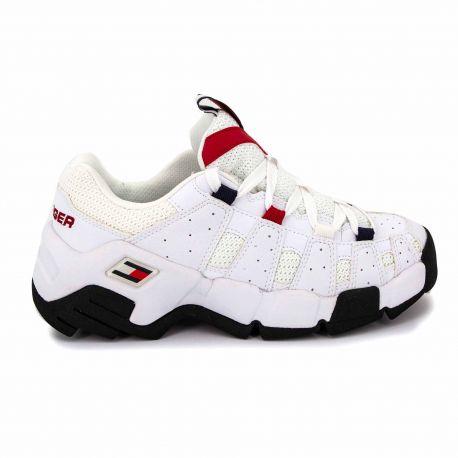 Sneakers black en0en00669 t36/42 Femme TOMMY HILFIGER marque pas cher prix dégriffés destockage