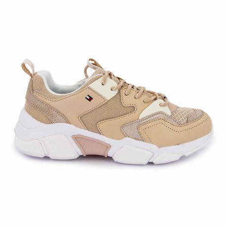 Sneakers pink fw0fw04694 t36/41 Femme TOMMY HILFIGER marque pas cher prix dégriffés destockage