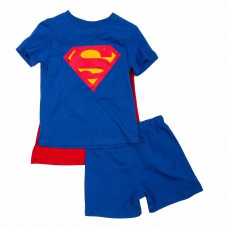 Pyjacourt avec cape Enfant SUPERMAN