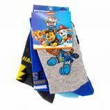 Lot de 3 paires de chaussettes imprimé en coton Enfant PAW PATROL