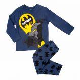 Pyjama imprimé pantalon haut manches longues coton Batman Enfant BATMAN