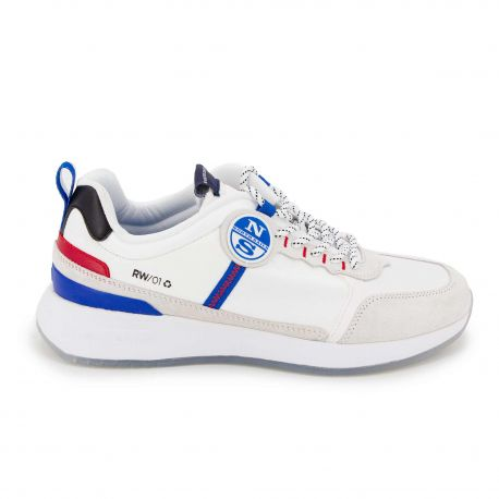 Baskets white red blue Homme NORTH SAILS