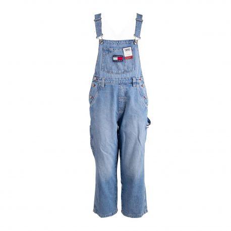 Salopette en jean dw0dw07685 Femme TOMMY HILFIGER marque pas cher prix dégriffés destockage