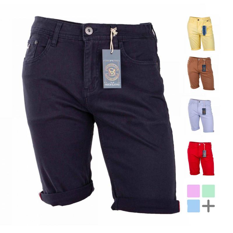 Bermuda coton stretch 5 poches Valley Homme BLAGGIO