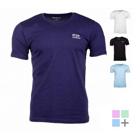 Tee shirt homme uni teano Homme REDSKINS marque pas cher prix dégriffés destockage