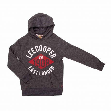 Sweat glc901 jaune-bleu-rouge-gris Enfant LEE COOPER marque pas cher prix dégriffés destockage