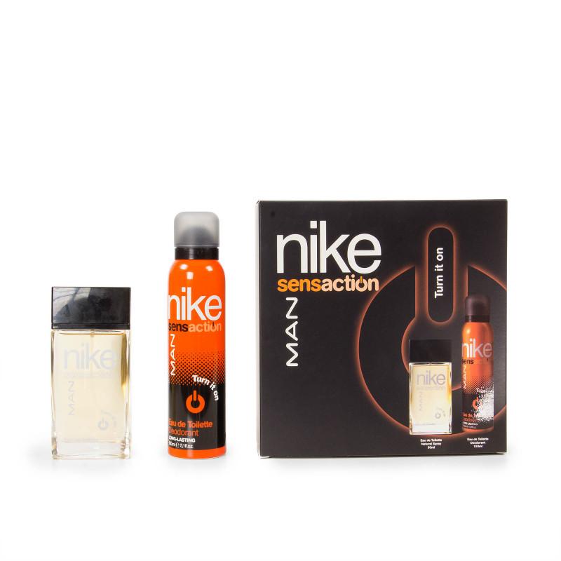 Coffret Eau de toilette 50 ml déodorant 150 ml homme SENSACTION TURN IT ON Nike  marque pas cher prix dégriffés destockage