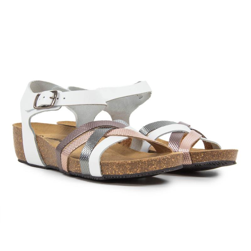 Sandales compensées multicolore femme PIEL Emma