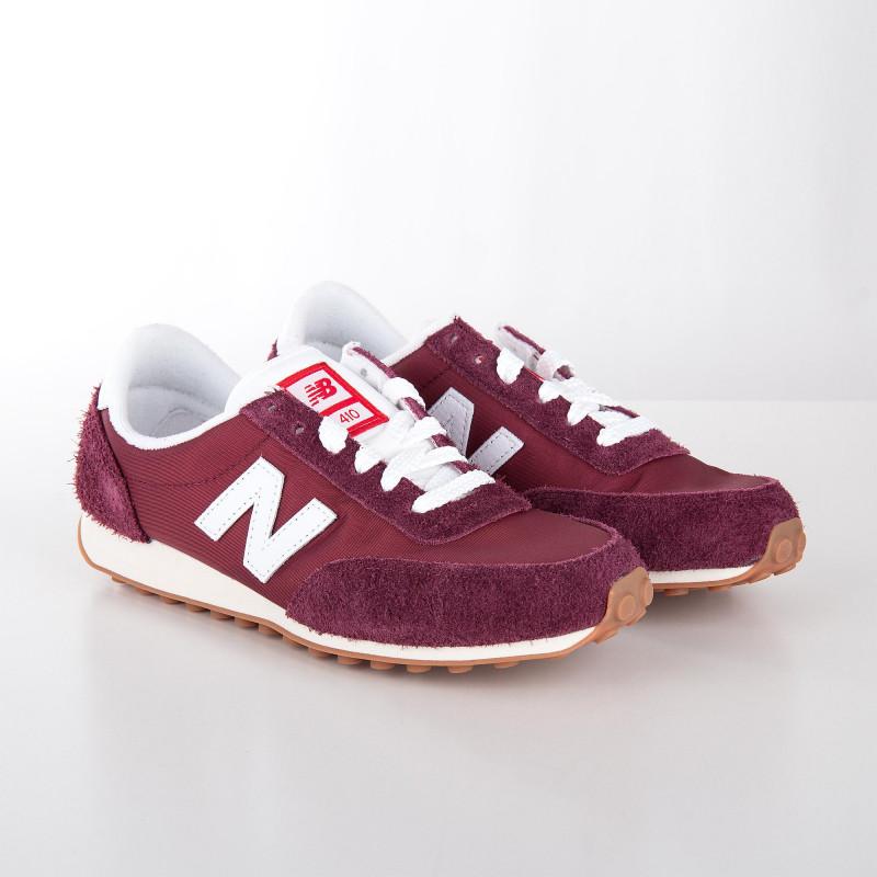 Baskets sneakers U410BD rouge pourpre femme NEW BALANCE marque pas cher prix dégriffés destockage