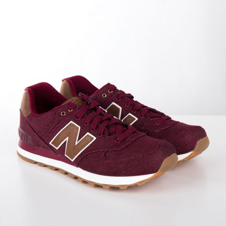 magasin d'usine 12ad8 8a7b2 Baskets sneakers ML574TXD rouge bordeaux homme NEW BALANCE