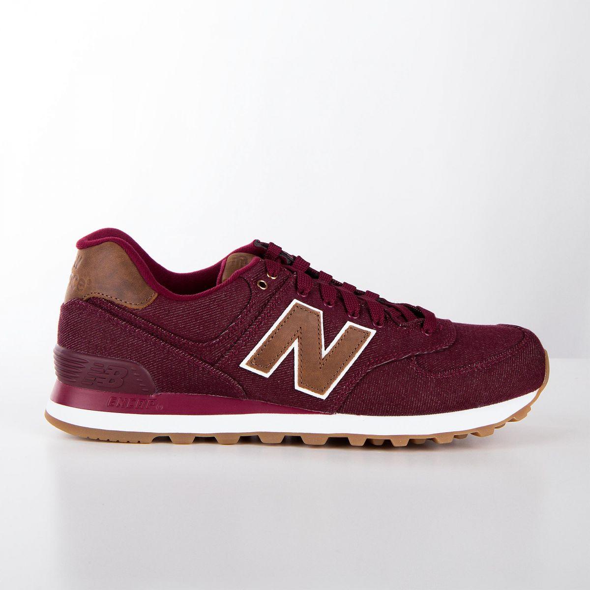 acheter pas cher 8f94d 9e771 Baskets sneakers ML574TXD rouge bordeaux homme NEW BALANCE à ...