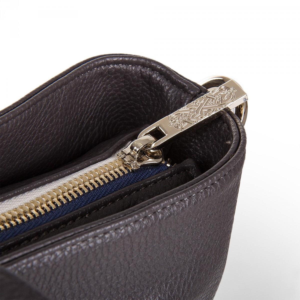 zip à LACROIX cuir simili à CHRISTIAN marron Sac prix main femme wBCXxUq