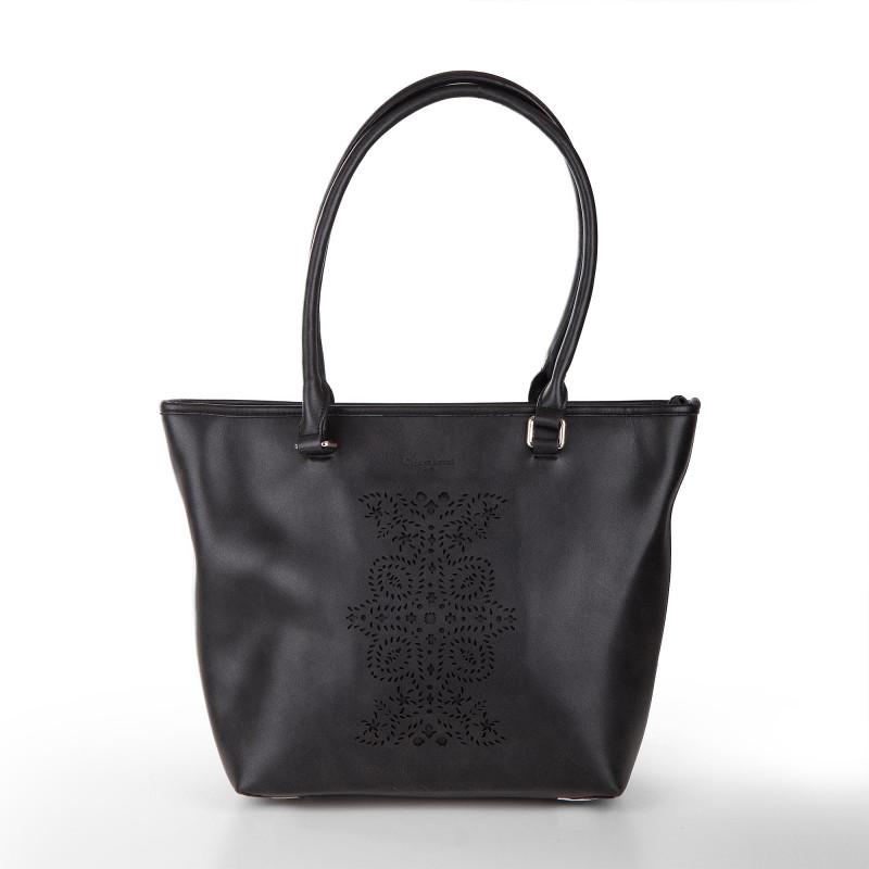 Sac simili cuir noir détails perforés femme CHRISTIAN LACROIX marque pas cher prix dégriffés destockage