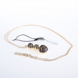 Collier chaîne plaqué or et résine 54cm NINA RICCI marque pas cher prix dégriffés destockage