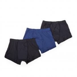 Lot de 3 boxers noir et bleu homme AZERTEX