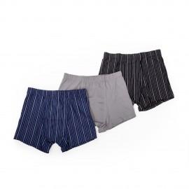 Lot de 3 boxers à rayures homme AZERTEX