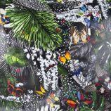 Cabas à motifs tropicaux en toile cirée femme CHRISTIAN LACROIX marque pas cher prix dégriffés destockage