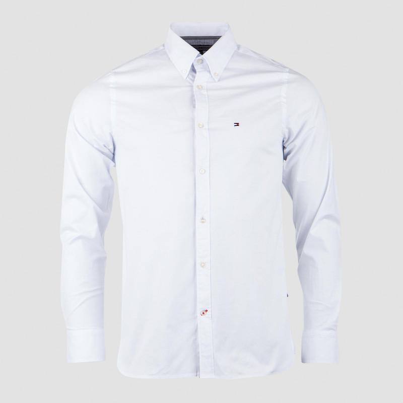 Chemise Manches Longues blanche homme Tommy Hilfiger marque pas cher prix dégriffés destockage