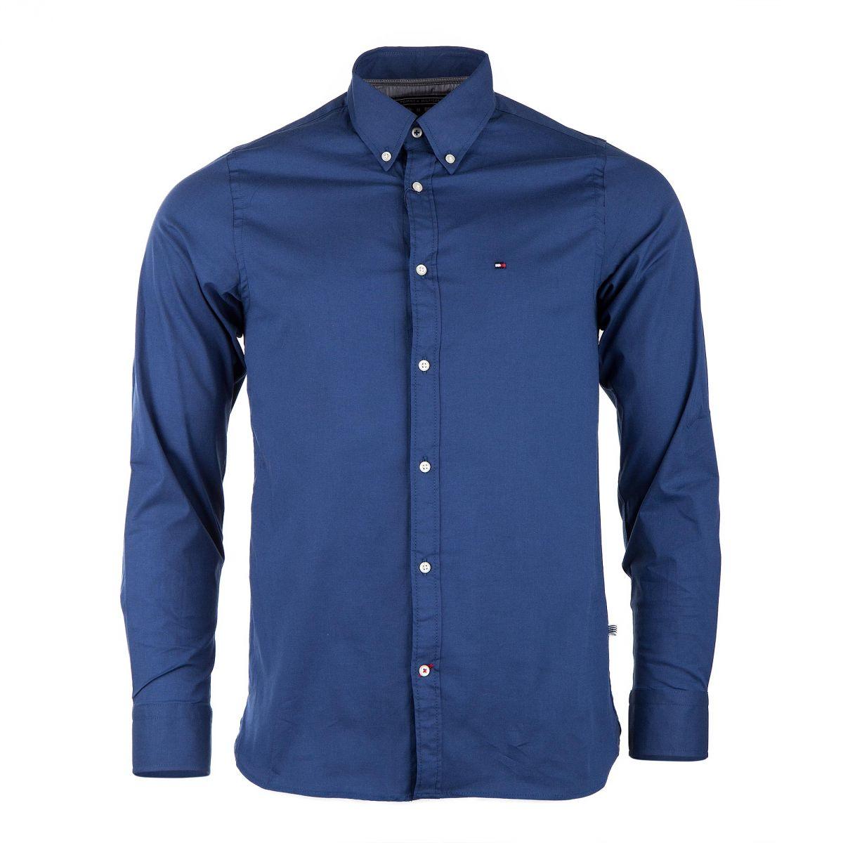 chemise manches longues bleu roi homme tommy hilfiger. Black Bedroom Furniture Sets. Home Design Ideas