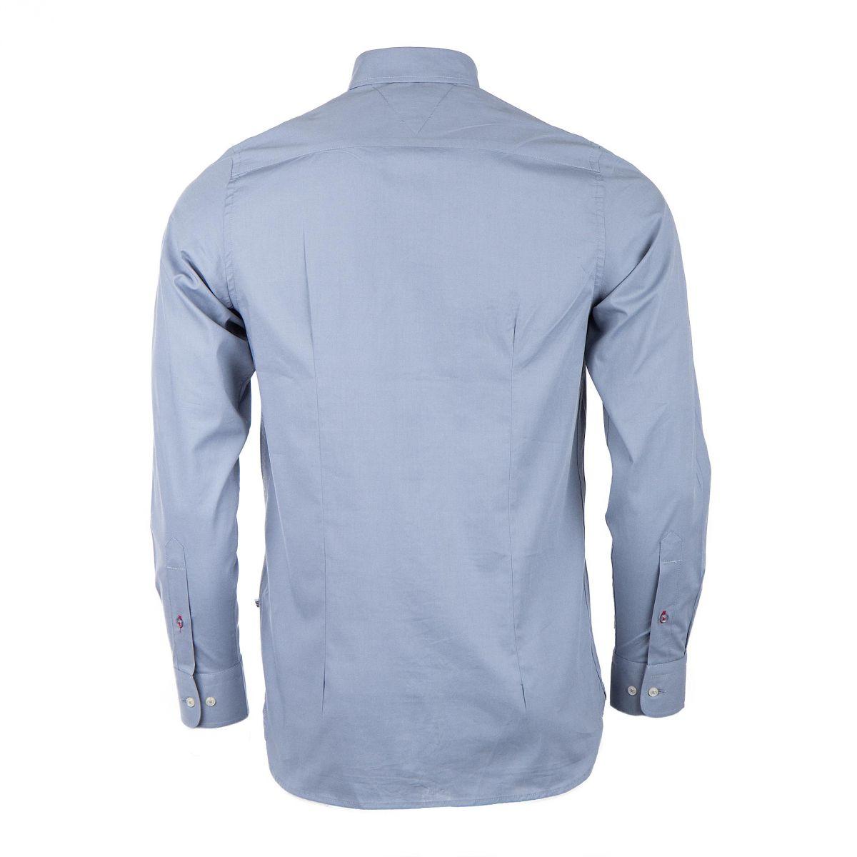 chemise manches longues bleu gris homme tommy hilfiger prix. Black Bedroom Furniture Sets. Home Design Ideas