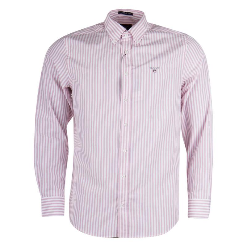 Chemise rayée blanche et rose homme GANT marque pas cher prix dégriffés destockage