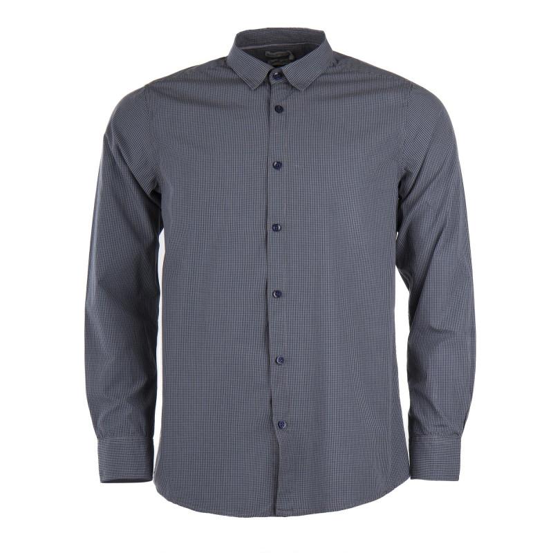 Chemise à carreaux gris et bleus homme BEST MOUNTAIN marque pas cher prix dégriffés destockage