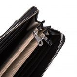 Grand porte-feuille compagnon noir femme Us Polo marque pas cher prix dégriffés destockage