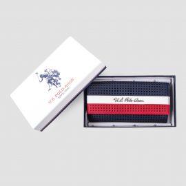 Grand porte-monnaie tricolore femme US POLO marque pas cher prix dégriffés destockage