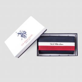 Grand porte-monnaie tricolore femme US POLO