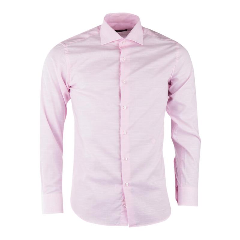 Chemise rose tout coton homme TRUSSARDI marque pas cher prix dégriffés destockage