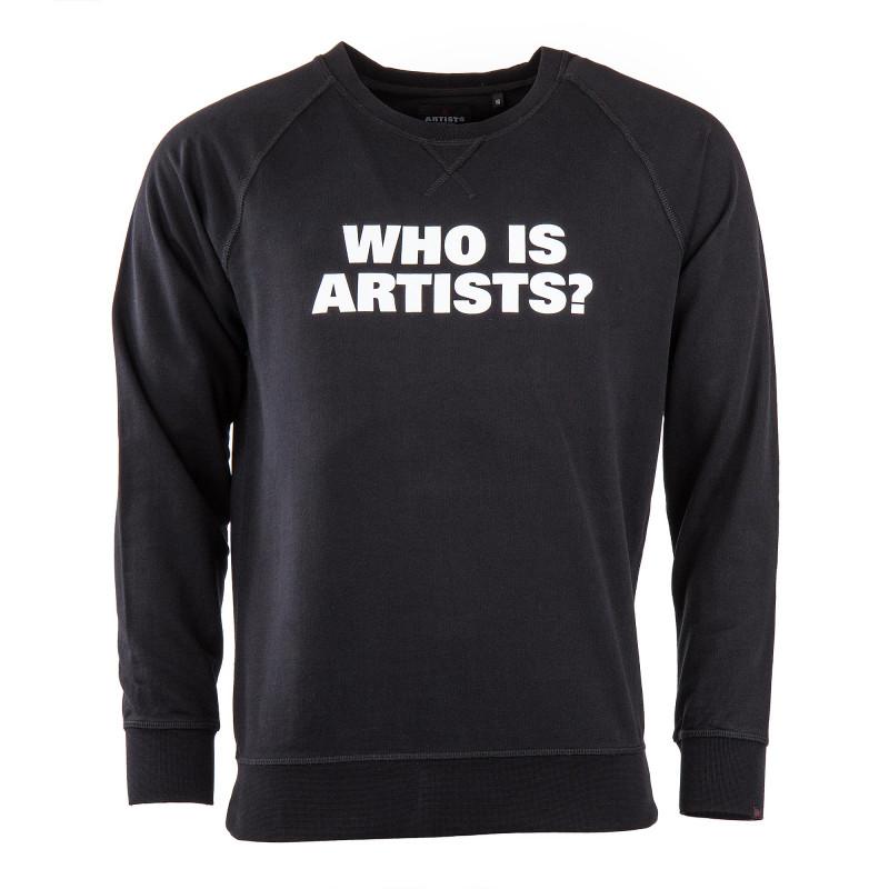 """Sweat noir """"WHO IS ARTISTS"""" homme Artists marque pas cher prix dégriffés destockage"""