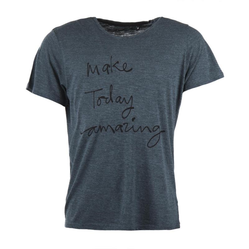 T-shirt manches courtes vert make today amazing homme BEST MOUNTAIN marque pas cher prix dégriffés destockage