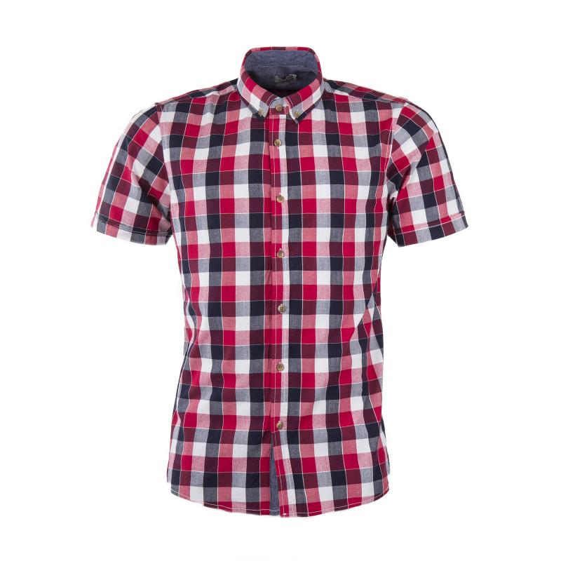 Chemise à carreaux bleu et rouge homme BEST MOUNTAIN marque pas cher prix dégriffés destockage