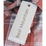 Chemise manches courtes à carreaux homme BEST MOUNTAIN marque pas cher prix dégriffés destockage