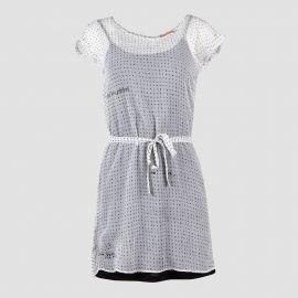 Robe blanche imprimé alphabet femme DDP