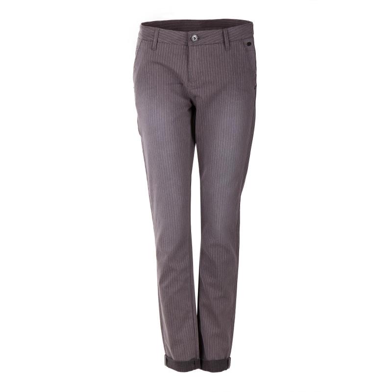 Pantalon rayé en toile femme DDP marque pas cher prix dégriffés destockage